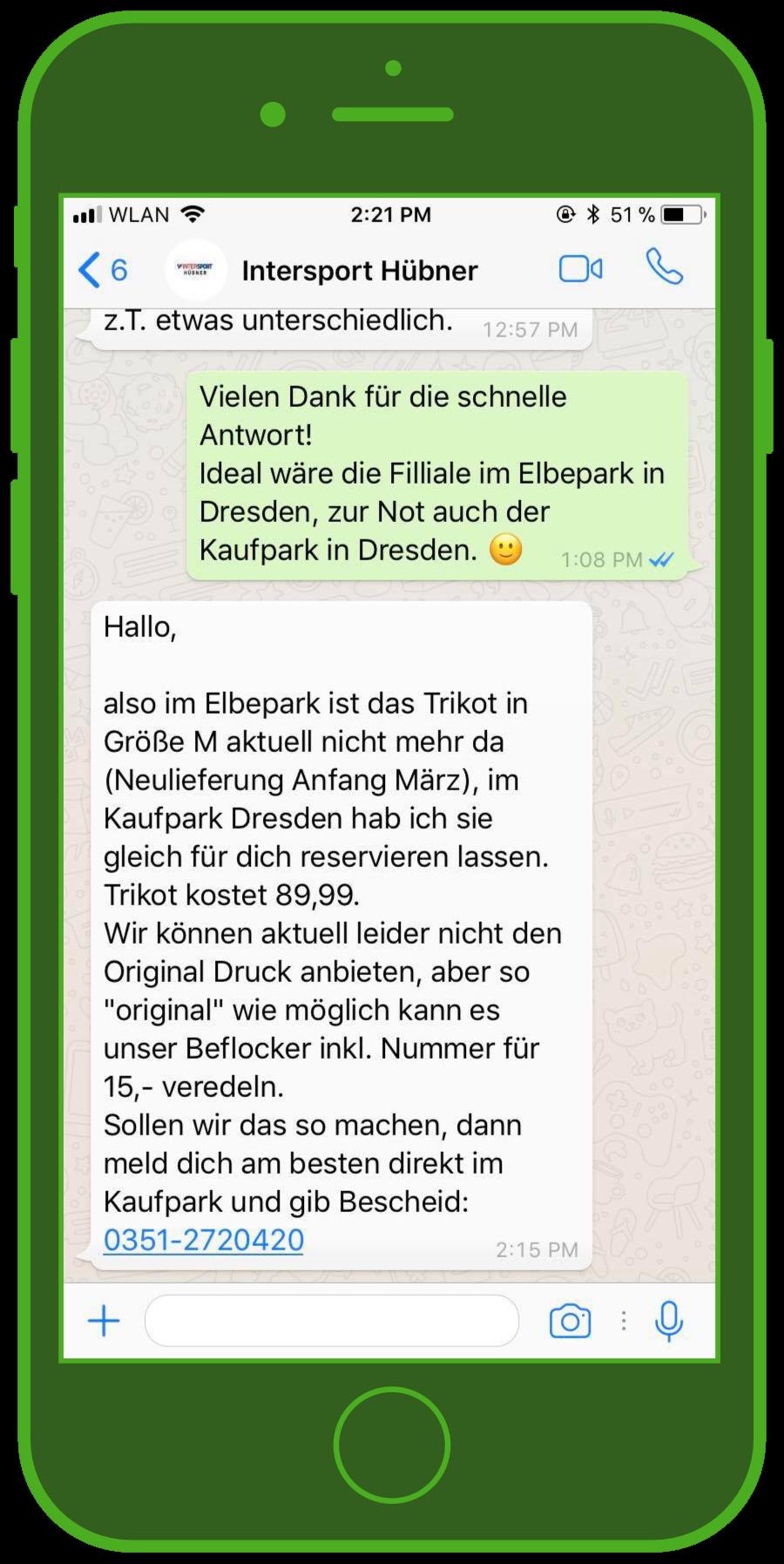device-intersport-hübner-whatsapp-e-commerce