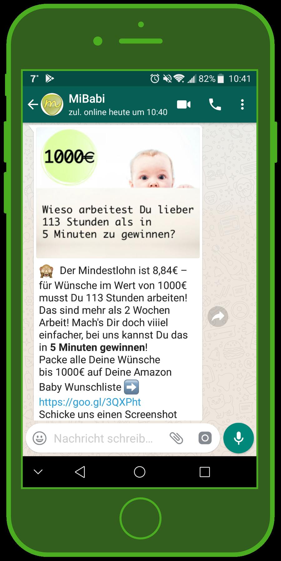 device-mibaby-1-whatsapp-e-commerce-gewinnspiel