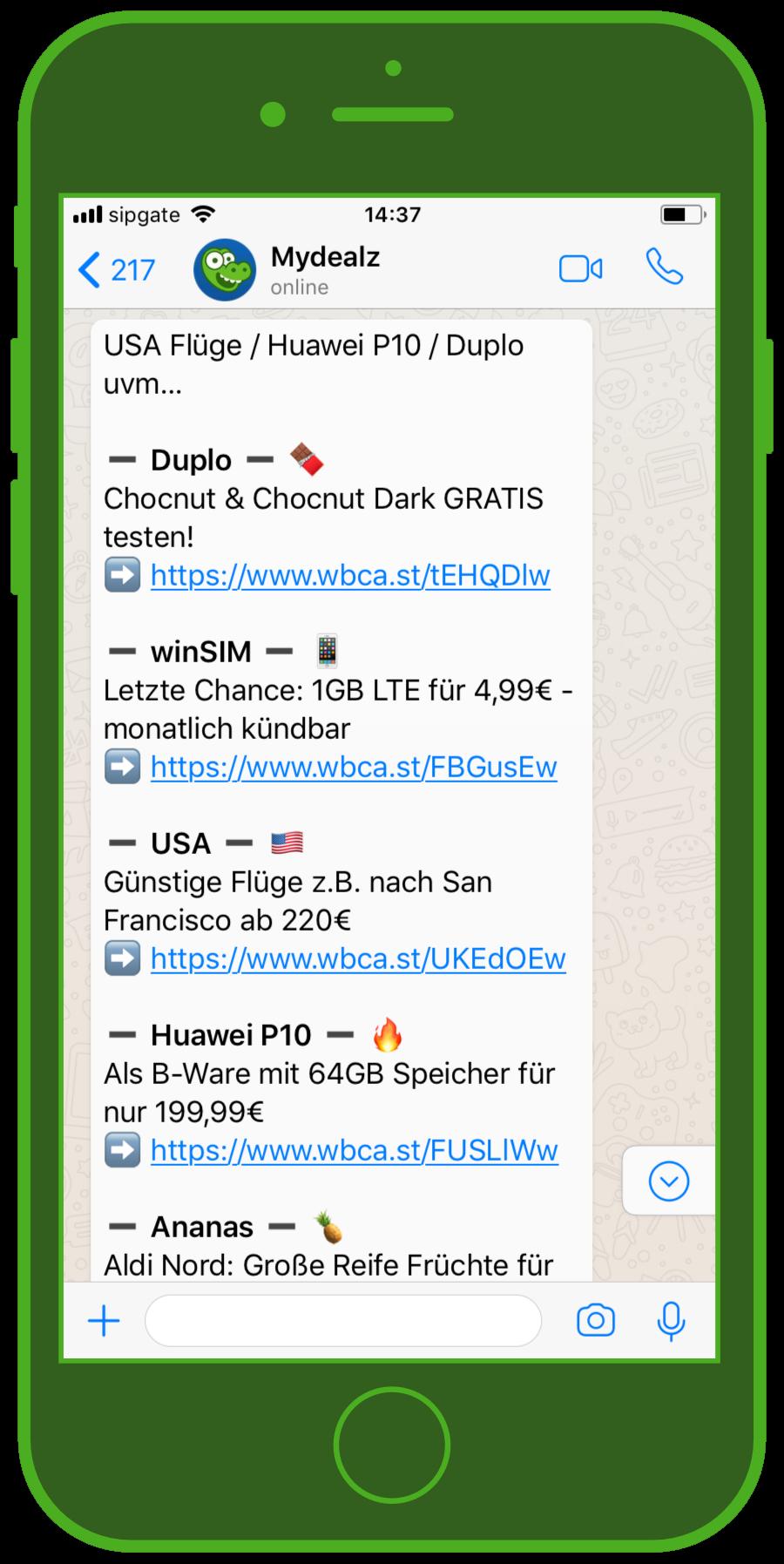 device-mydealz-whatsapp-e-commerce