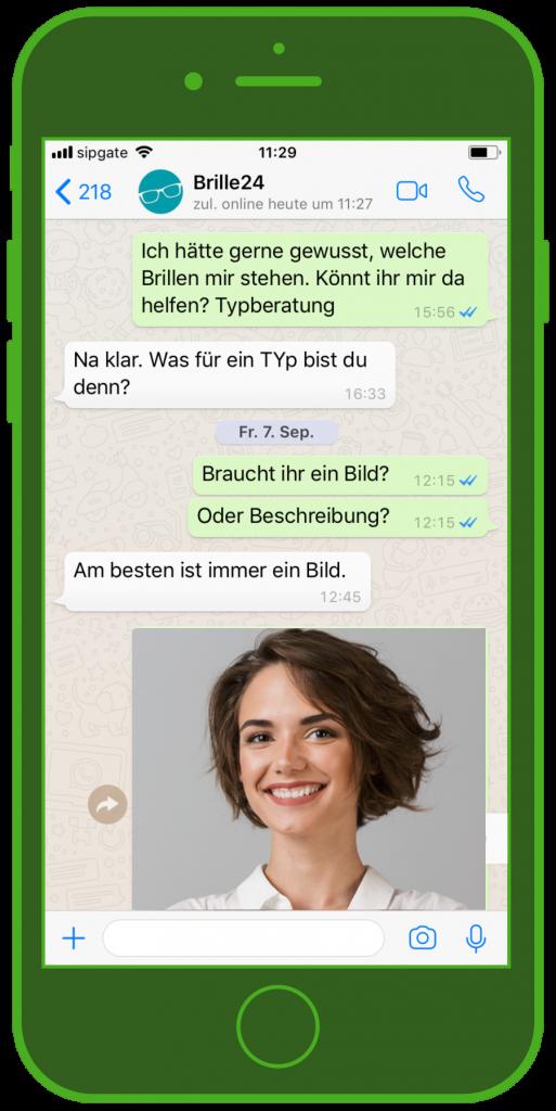 WhatsApp Kundenservice von Brille24
