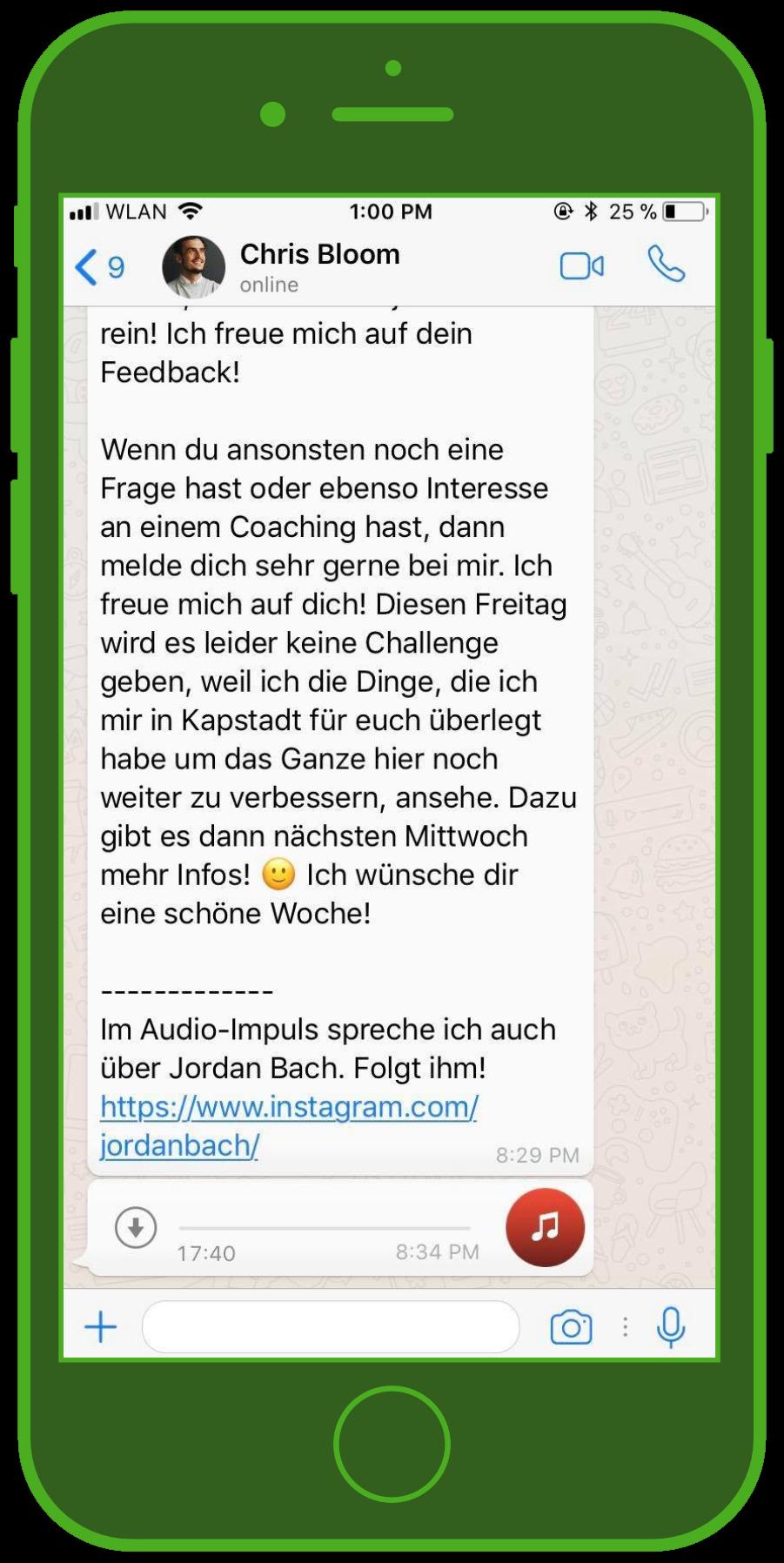 device-whatsapp-newsletter-influencer-screenshot