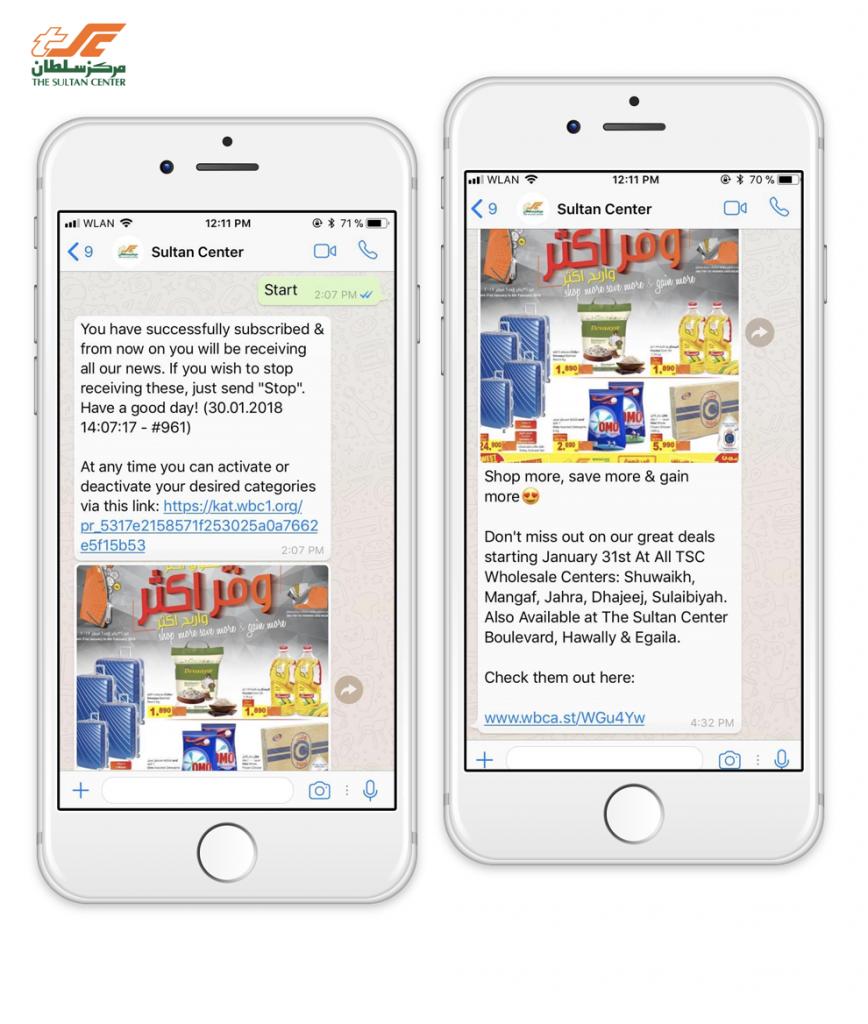 sultan-center-messenger-whatsapp-newsletter