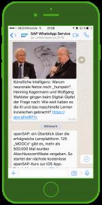 SAP Unternehmenskommunikation und WhatsApp