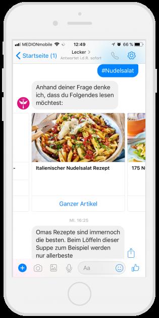 Chatbots-Kundenservice-Lecker-Facebook-Messenger