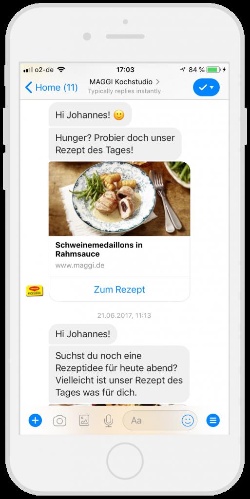 Chatbots-Kundenservice-Maggi-Facebook-Messenger