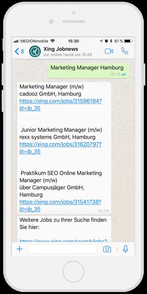 Chatbots-Kundenservice-Xing-Facebook-Messenger