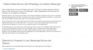 telekom unternehmenskommunikation und whatsapp