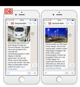 deutsche bahn unternehmenskommunikation und whatsapp