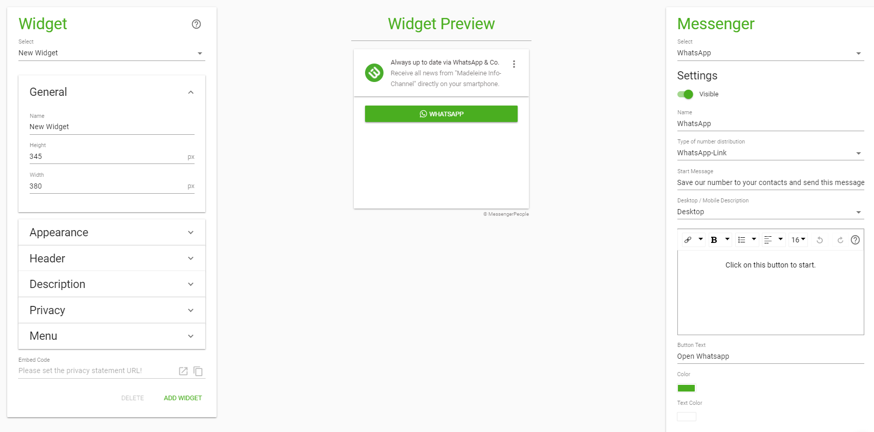 widget newsletter