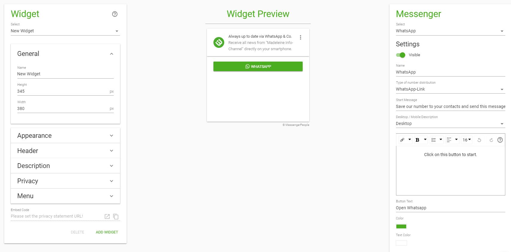 widget newsletter