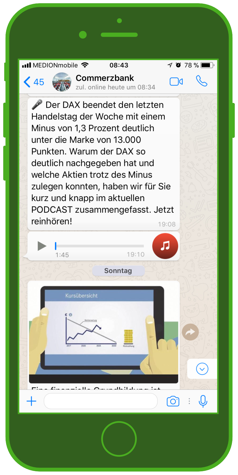 fe96a435fb82 Commerzbank WhatsApp Service: Innovative Messenger Marketing