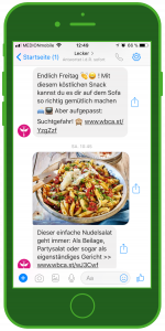 facebook messenger newsletter lecker