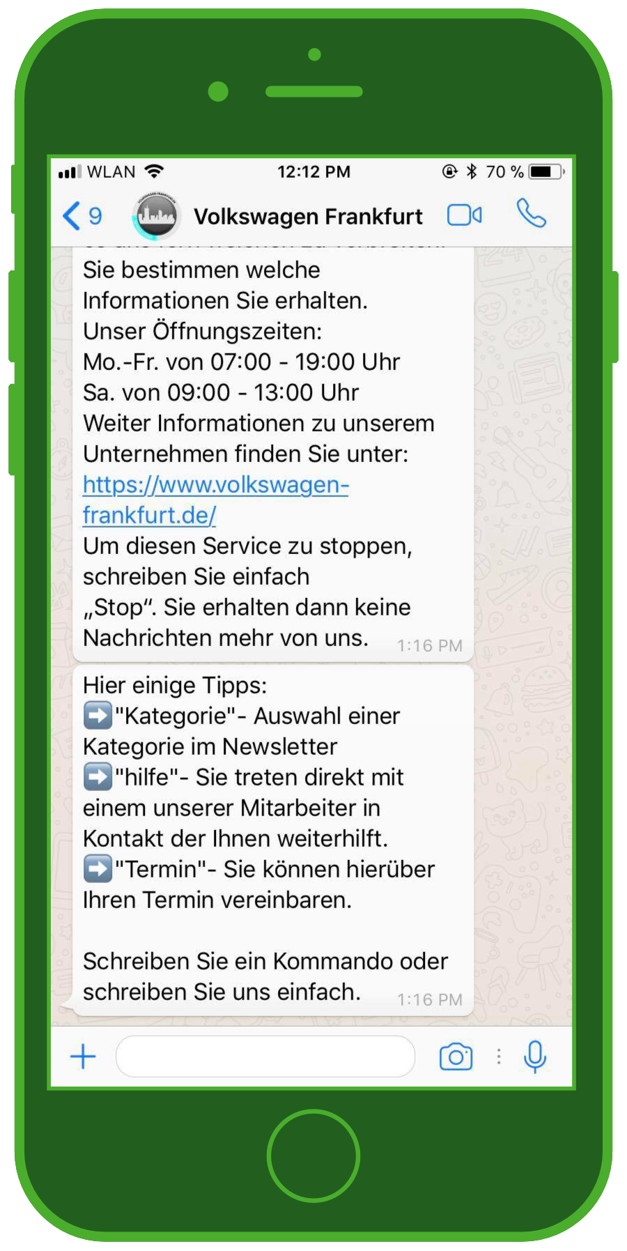 Sucessfully using WhatsApp for customer service automotive