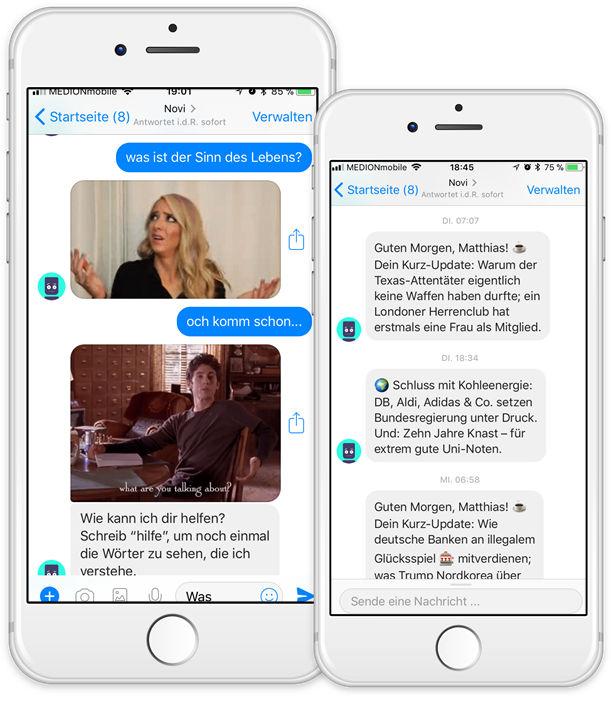 Chatbot Messenger Bot Novi Facebook Messenger