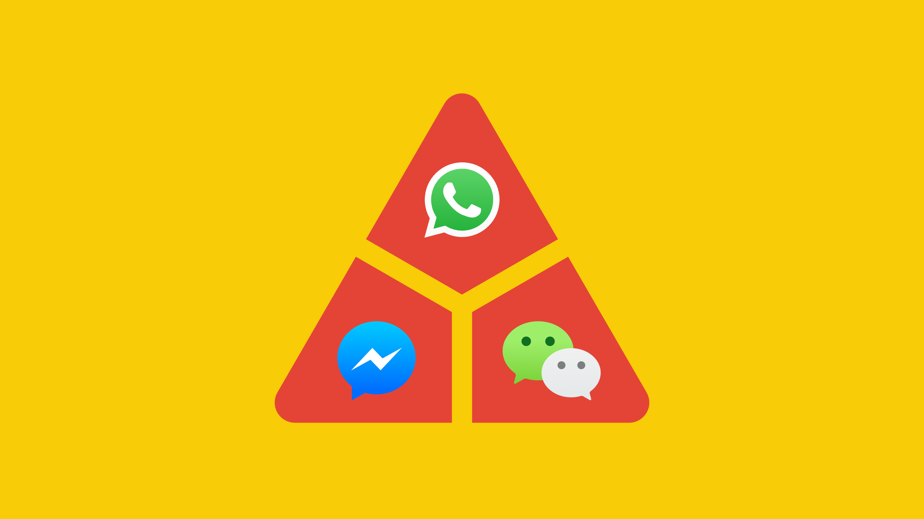 WeChat, WhatsApp und Facebook