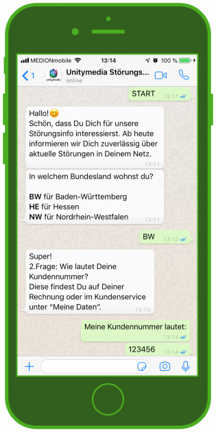 Messenger-Newsletter-Telekommunikation-Messenger-WhatsApp-Notification-Alert-Update-Störungsmelder-2