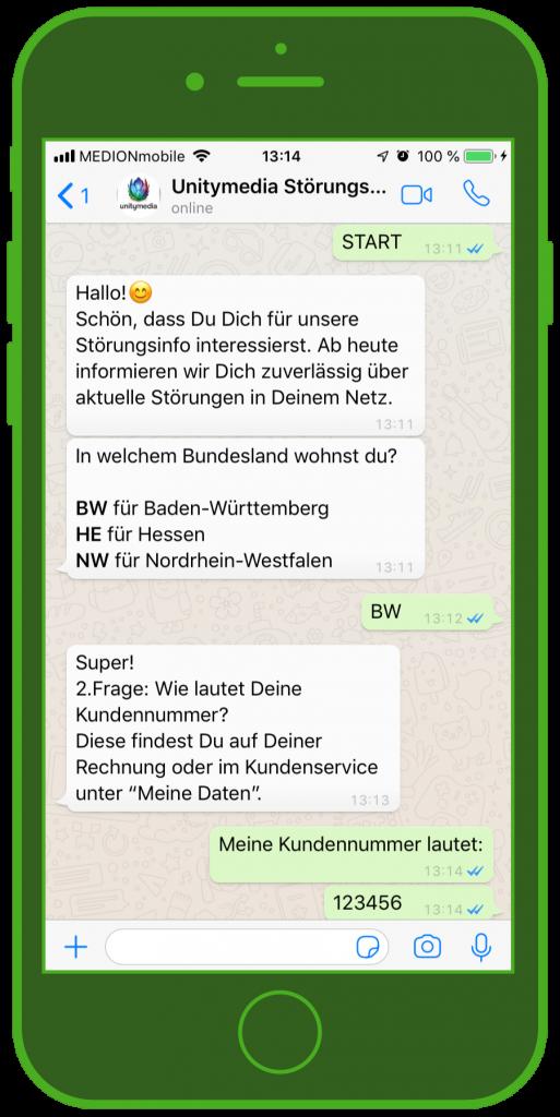 Störungsmelder whatsapp unitymedia