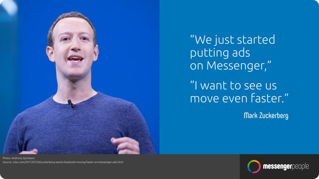 Facebook Messenger für Unternehmen Zuckerberg Ads on messenger