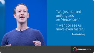 facebook Messenger zuckerberg Ads on messenger