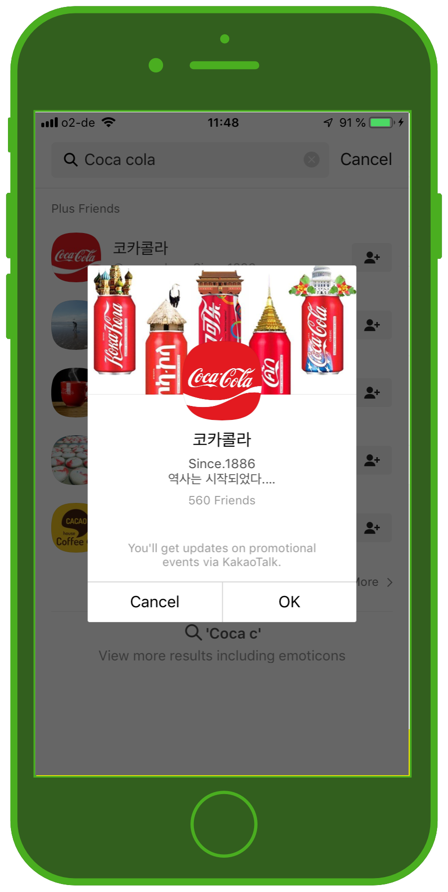 Messenger Apps & Brands KakaoTalk Messenger Coca Cola