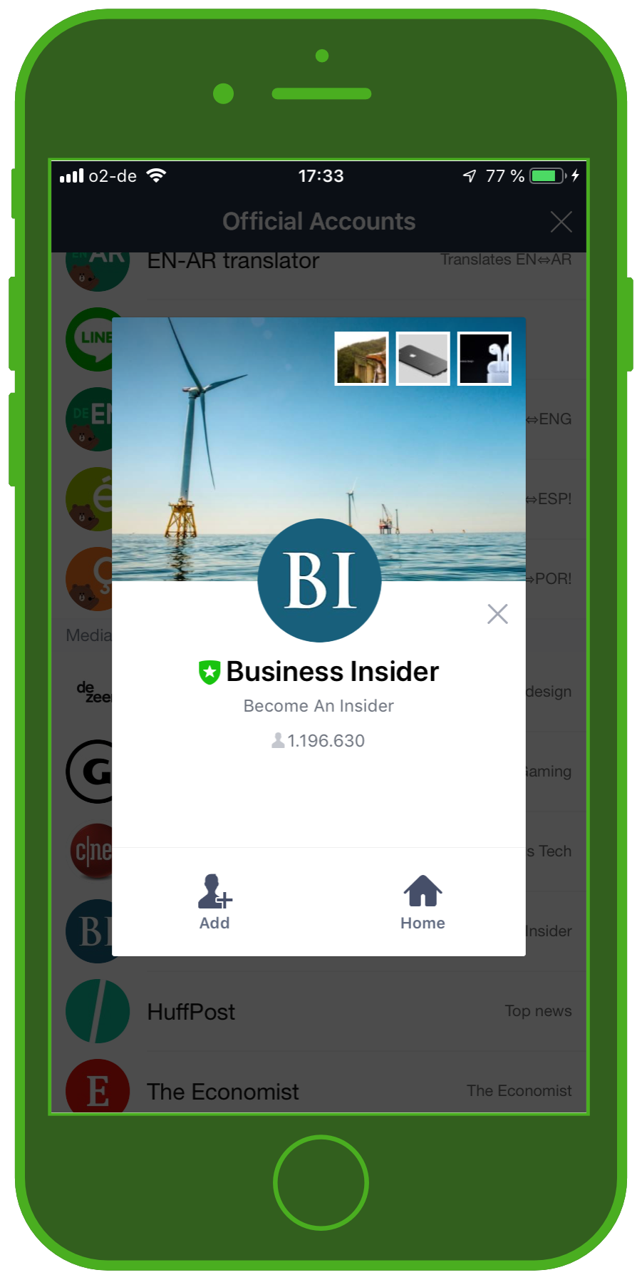 LINE Chat App Official Account Business Insider