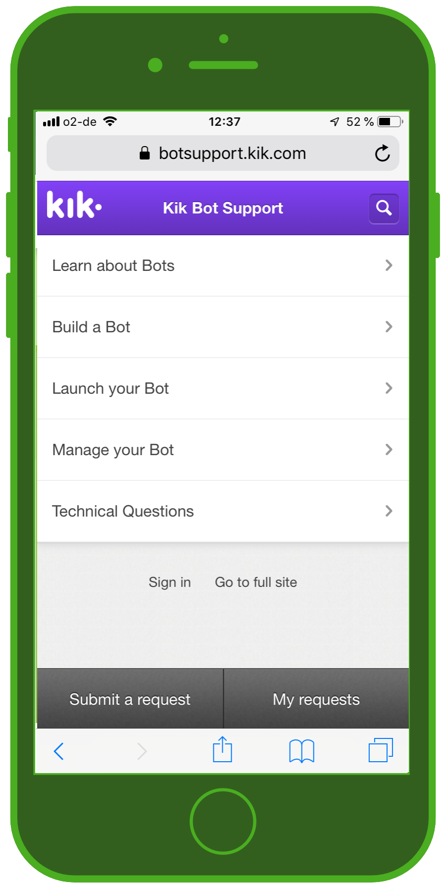 kik messenger discover bot support
