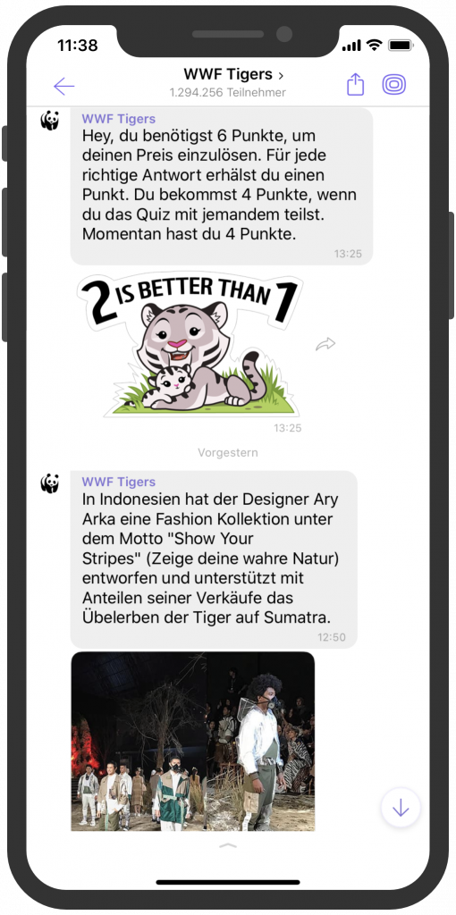 WWF-Tigers-Viber-Messenger-Newsletter-Alternative