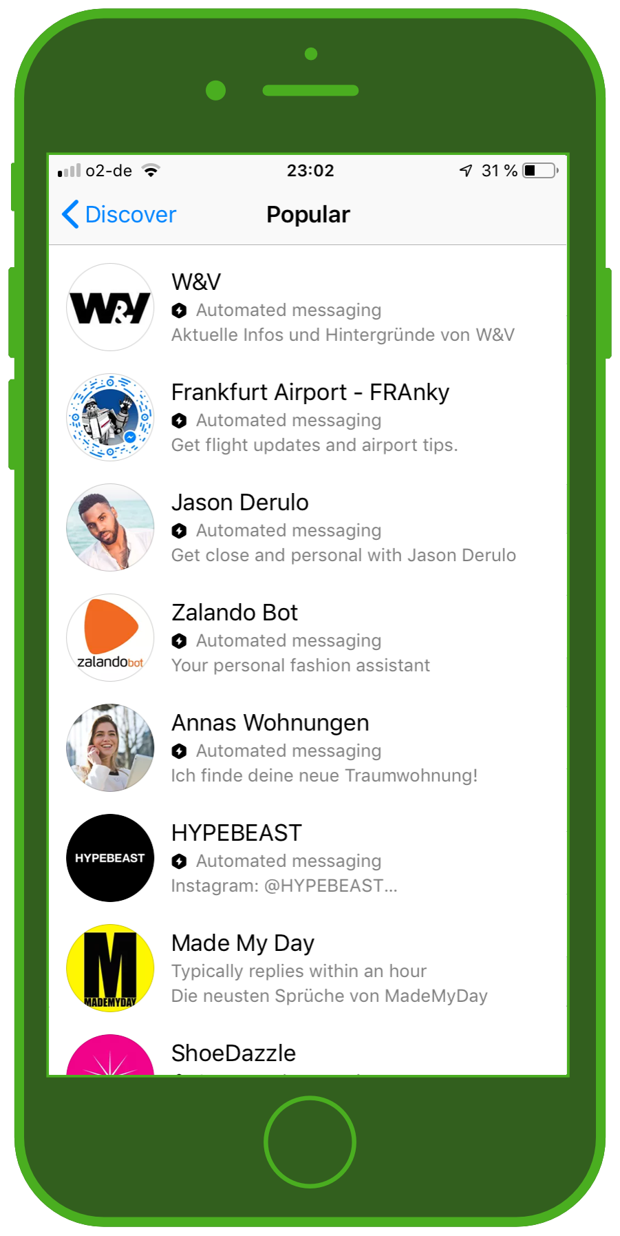 Messaging Apps & Brands Facebook Messenger Discover