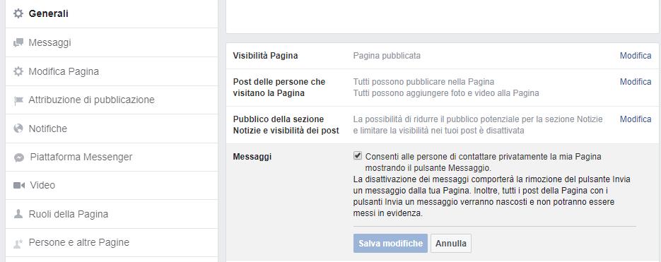 facebook italiano