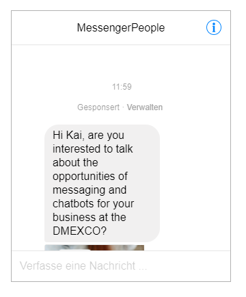 Sponsored Message Facebook Messenger
