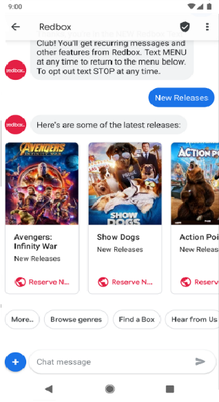 Android Messages Chat RCS