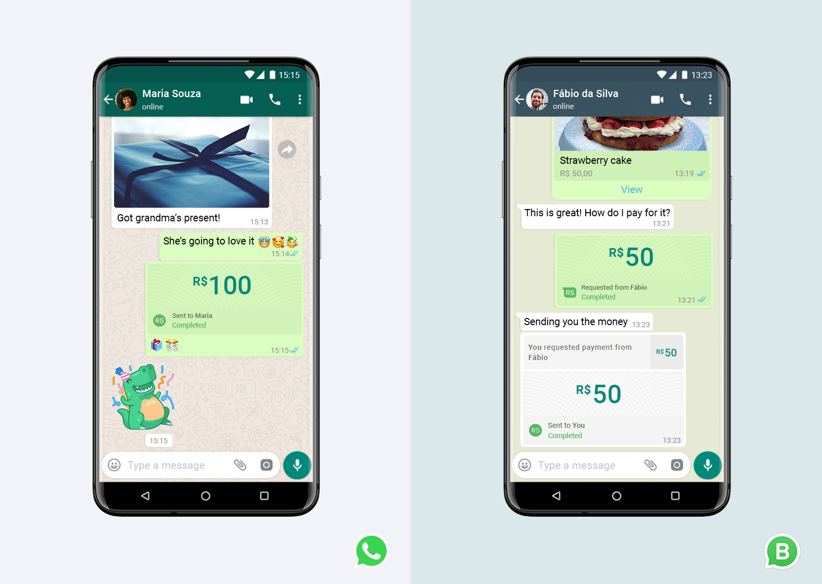 WhatsApp Payment Brasilien
