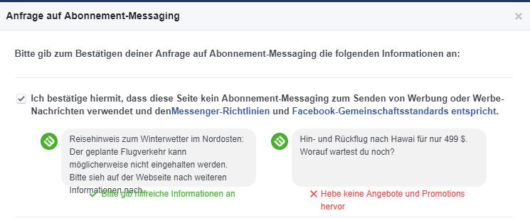 Facebook Messenger Newsletter Versand Via Chatbots Verifizieren