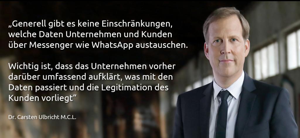 whatsapp datenschutz dsgvo carsten ulbricht