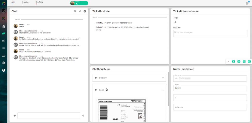 Customer Service Plattform Chat