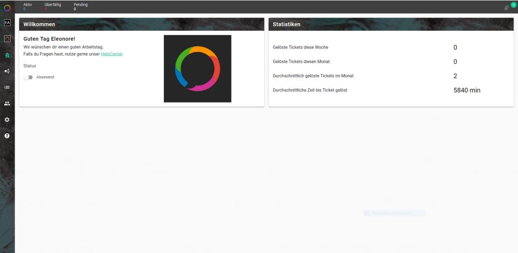 Customer Service Plattform Dashboard