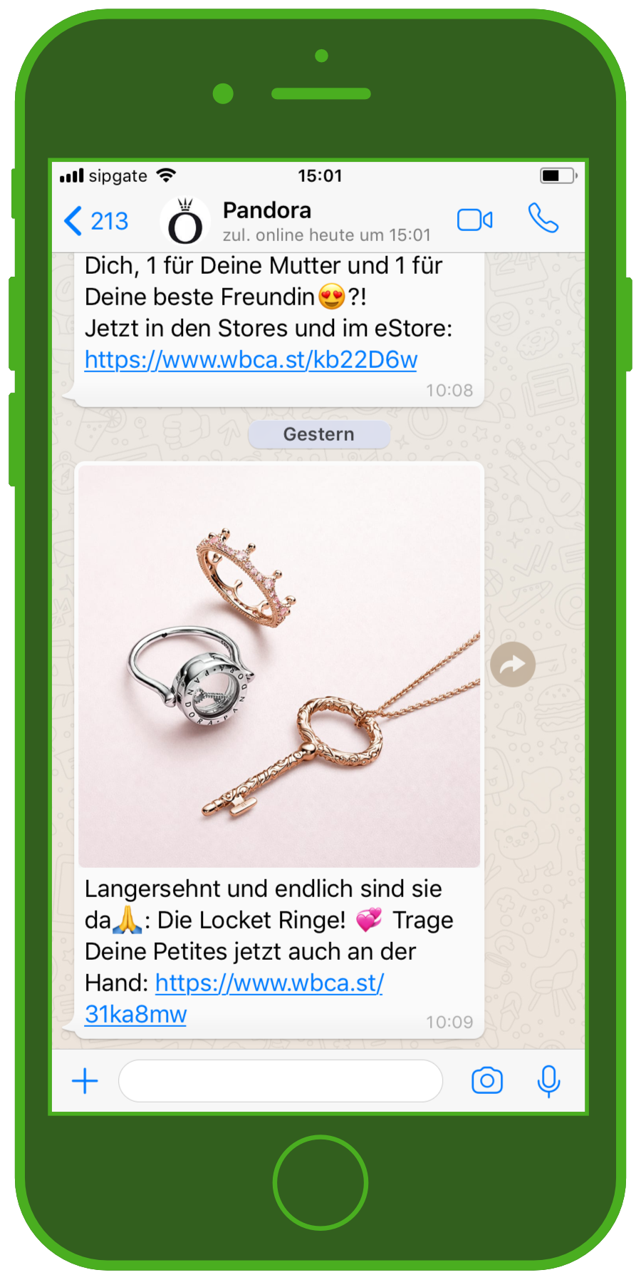 device-pandora-whatsapp-screenshot