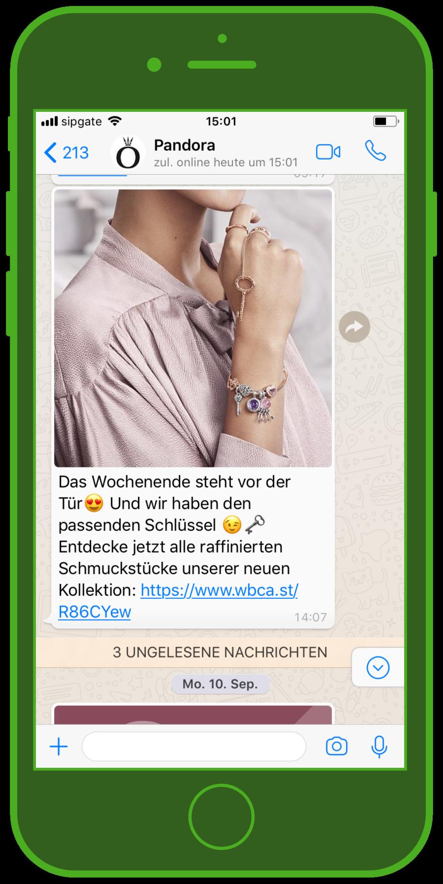 device-pandora-whatsapp-screenshot