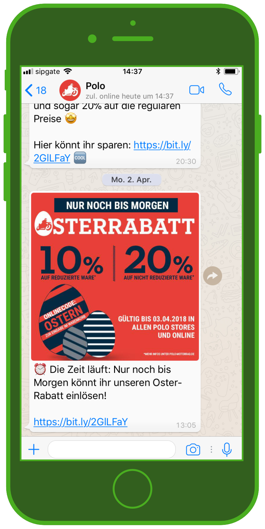 device-polo-osterrabatt-whatsapp-screenshot
