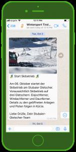 Stubaier Gletscher WhatsApp