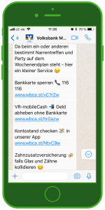 device-volksbank-whatsapp-screenshot-finanzen whatsapp volksbank