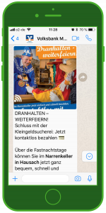 whatsapp finanzbranche