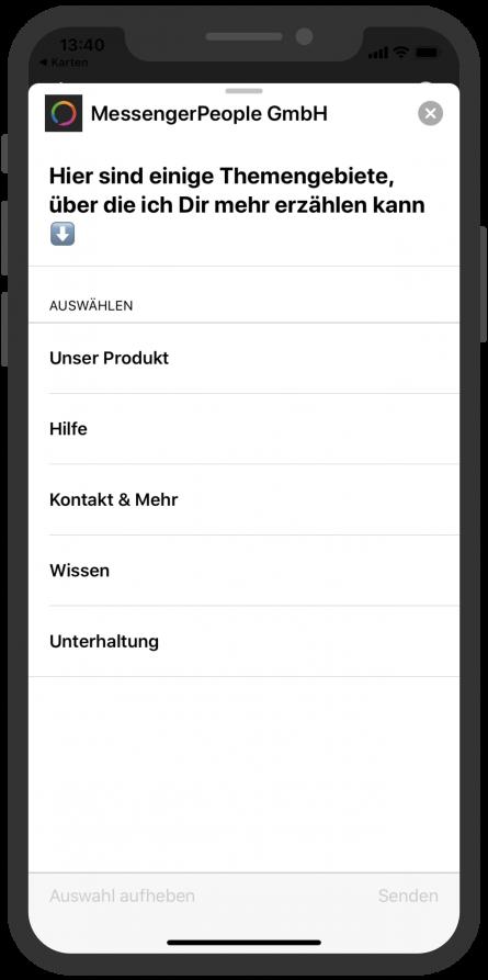 Apple-Business-Chat-List-Picker