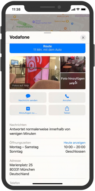 Apple-Business-Chat-Vodafone-Kundenservice-Apple-Maps