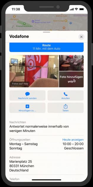 Apple-Business-Chat-Vodafone-Kundenservice-Apple-Maps