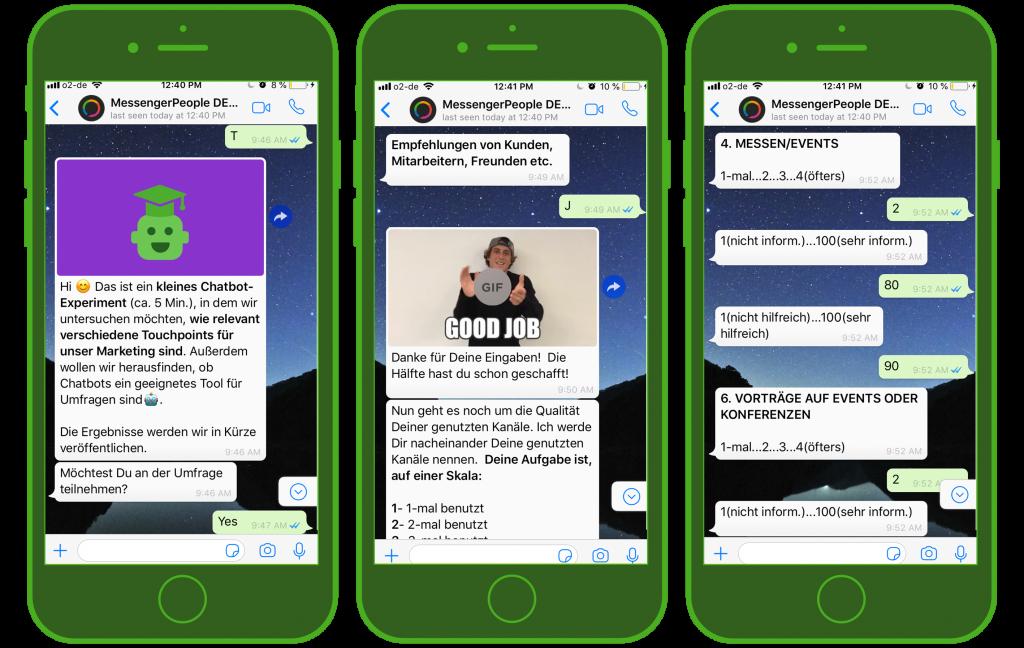 So funktioniert ein WhatsApp Umfrage Chatbot
