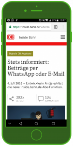 DB Landingpage WhatsApp WhatsApp Tourismus