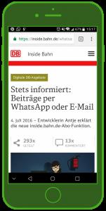 DB Landingpage WhatsApp WhatsApp Tourismus