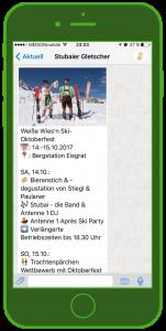 Stubaier Gletscher WhatsApp WhatsApp Tourismus