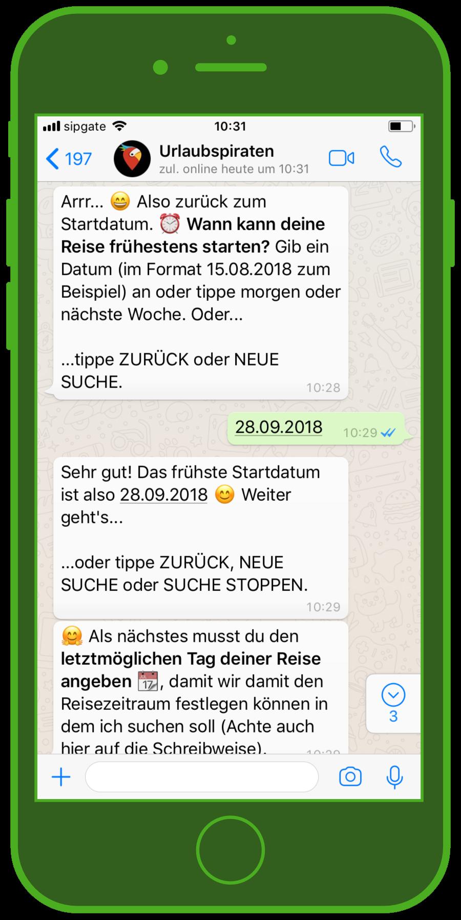 urlaubspiraten whatsapp